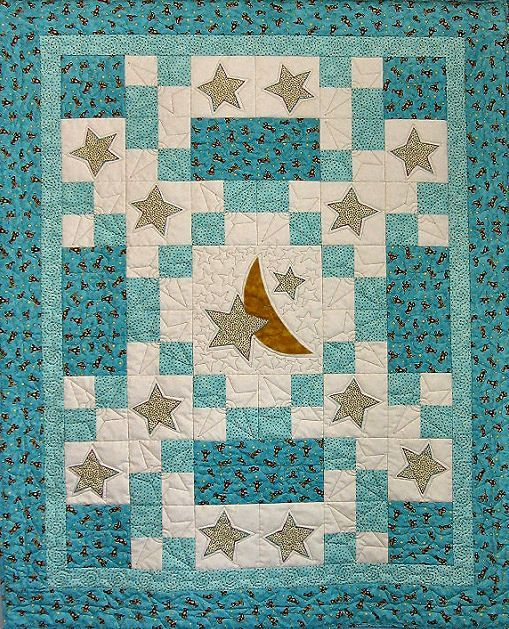 Sweet Dreams baby quilt with moon and stars. So sweet! is creative ... : star baby quilt - Adamdwight.com