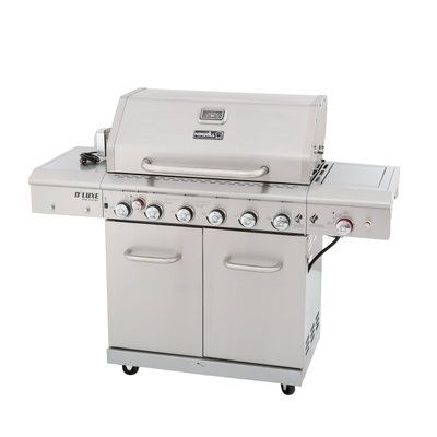 Nexgrill Deluxe 6 Burner Propane Gas Grill In Stainless Steel With Ceramic Searing Side Burner And Ceramic Rotisserie Burner 720 0896c At The Home Depot
