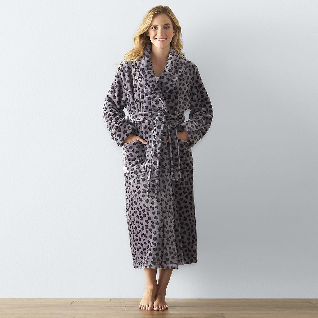 Women s SONOMA Goods for Life™ Long Plush Robe  00a5b51e3