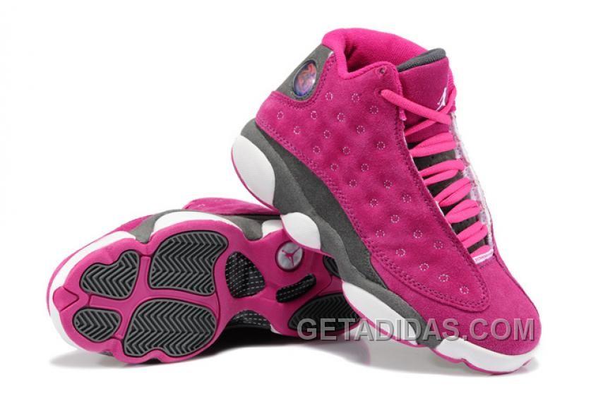 e55a4a7a50f New Air Jordan 13 GS Suede Pink Gray Top Deals Bxt2xD, Price: $89.00 -  Adidas Shoes,Adidas Nmd,Superstar,Originals