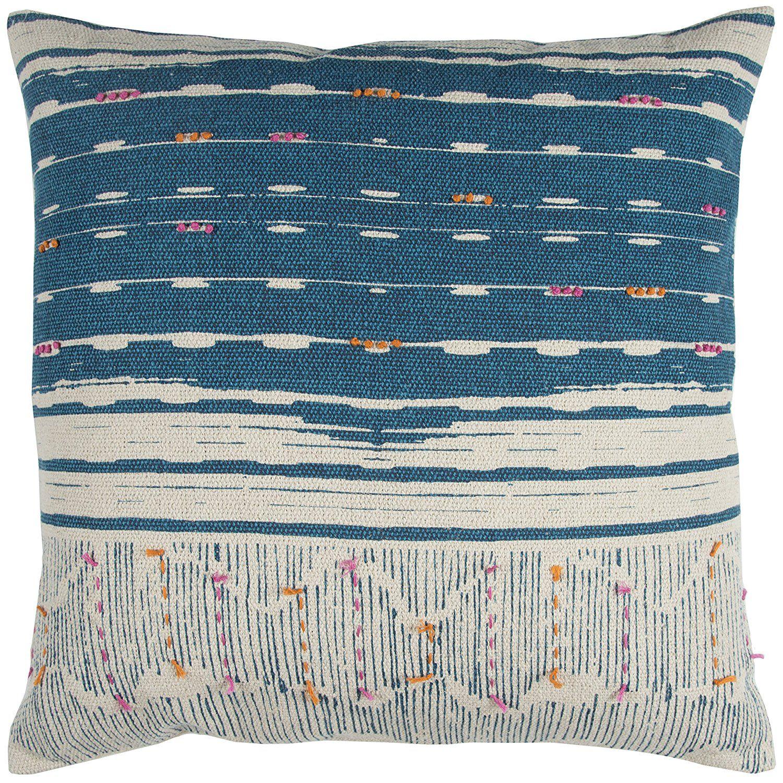22X22 Pillow Insert Rizzy Home Pilt12954Te002222 Boho Decorative Pillownatural Teal22
