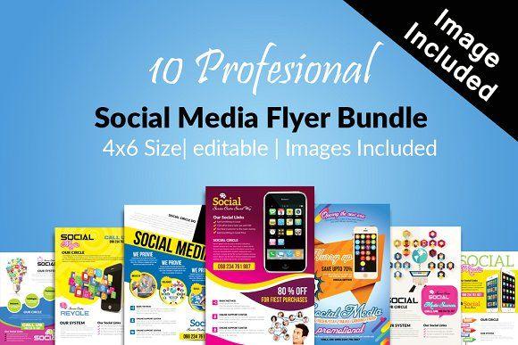 10 social media flyer bundle vol01 10 social media flyer bundle vol01 by design up on creativemarket fandeluxe Image collections
