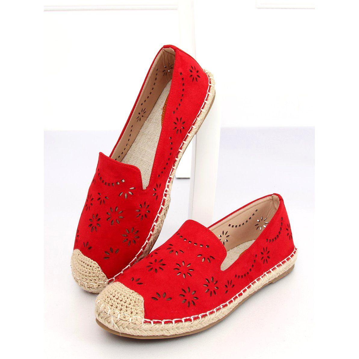 Espadryle Azurowe Czerwone 9023 Red