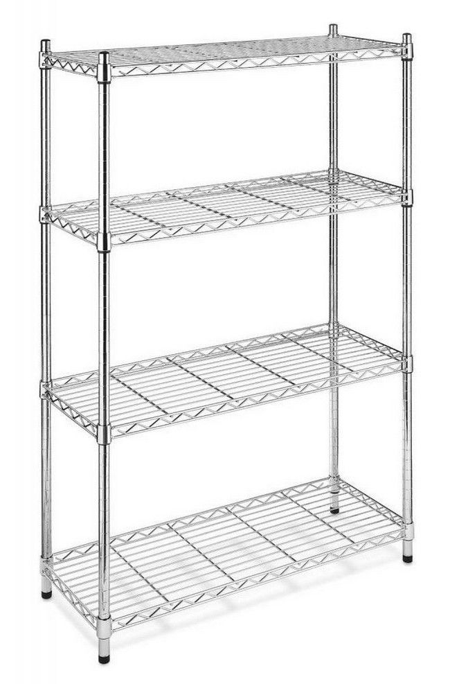 Whitmor Supreme 5 Tier Shelving with Adjustable Shelves and Leveling Feet