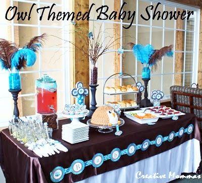 Creative Mommas: Owl Themed Baby Shower
