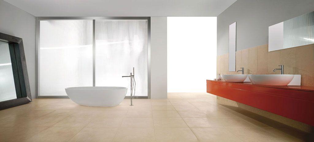 Light effects in porcelain tiles