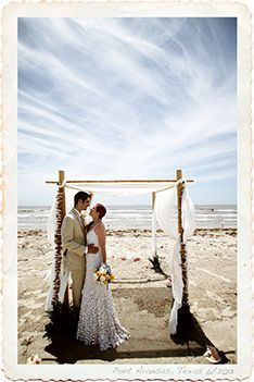 Two Of Our Clients Enjoy The Moment Peace Following Their Beach Wedding Ceremony At Port Aransas Texas Shot On Location
