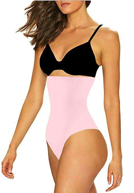 0b75685f3fb70c THONG SHAPERQUEEN 102 - Women Waist Cincher Girdle Tummy Slimmer Sexy Thong  Panty Shapewear at Amazon Women s Clothing store