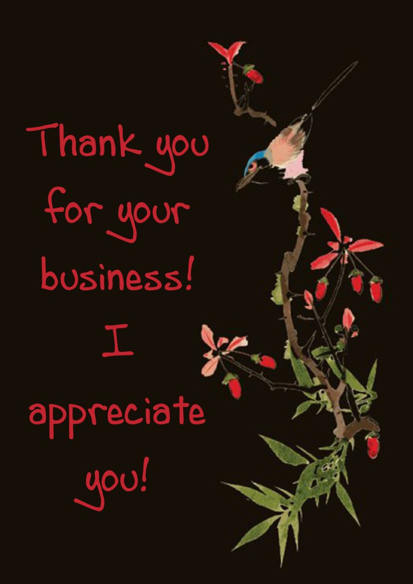 Thankyoucard A Great Thank You Card To Send To Customers This Is A