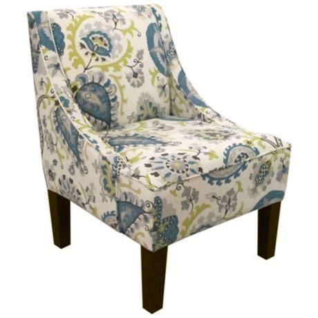 Ladbroke Peacock Fabric Swoop Arm Chair 5y246 Lamps Plus Fabric Armchairs Upholstered Arm Chair Chair