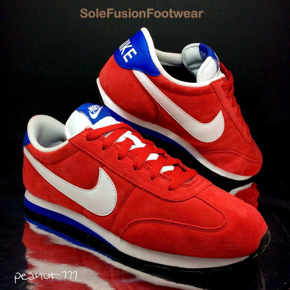 356f2cc90 Nike Mens Mach Runner Red Blue Trainers sz 8 Cortez Retro Sneakers US 9 EU  42.5 in Clothes
