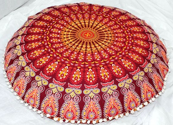 Indian large floor cushion cover mandala pillow floor pillow cover ...