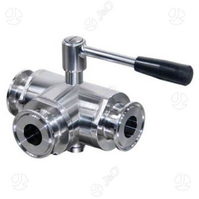 Hygienic Three Way Ball Valve Weld Ends Valve Ball Third Way