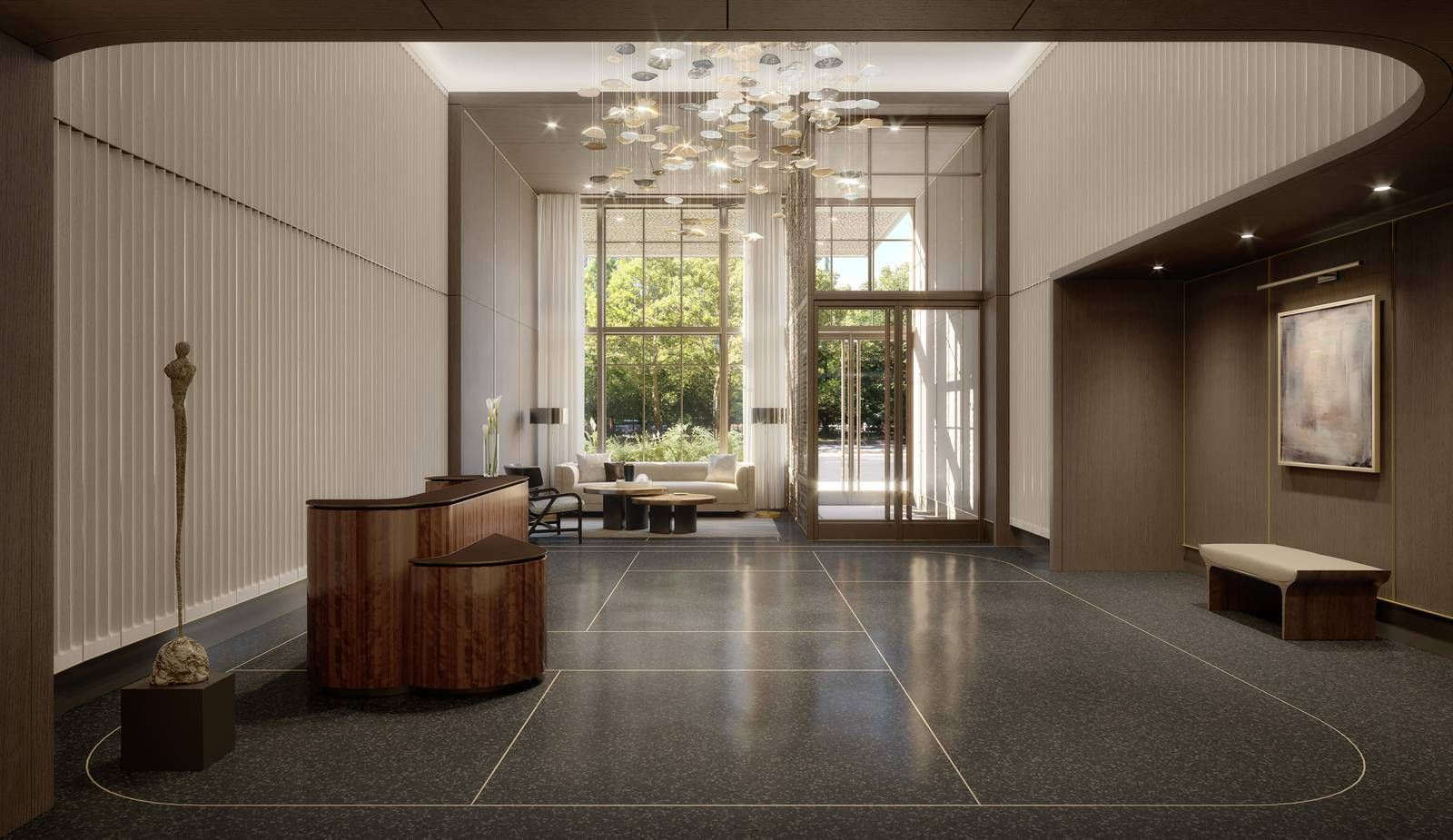 25 Park Row. Lobby. COOKFOX. Luxury apartments, Urban