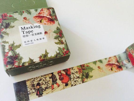 Old Fashioned Christmas Boxed Washi Tape by GoatGirlMH on Etsy