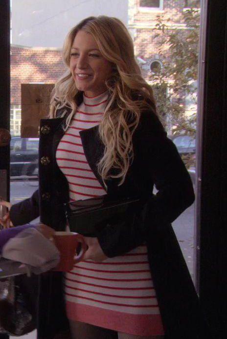 ef1556bca7 1x11 Roman Holiday - Serena van der Woodsen (Alexander Wang Striped Sweater  Dress).