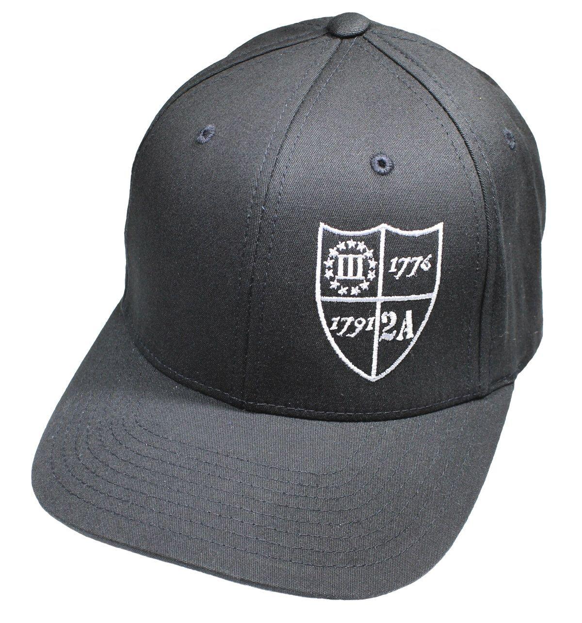3fe6c19f3 Molon Labe Patriotic Flexfit Twill Hat - 2nd Amendment Shield ...