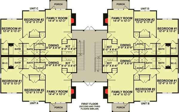 Plan 83120dc 12 Unit Apartment Building Plan Building Plans Building Design Building Plan