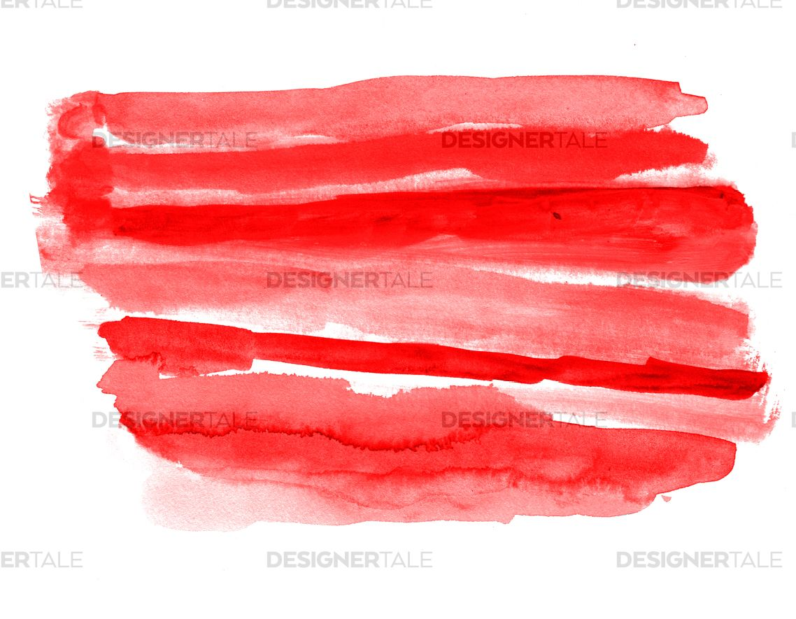 Red Watercolor Paper Texture Vector Background Watercolor Paper