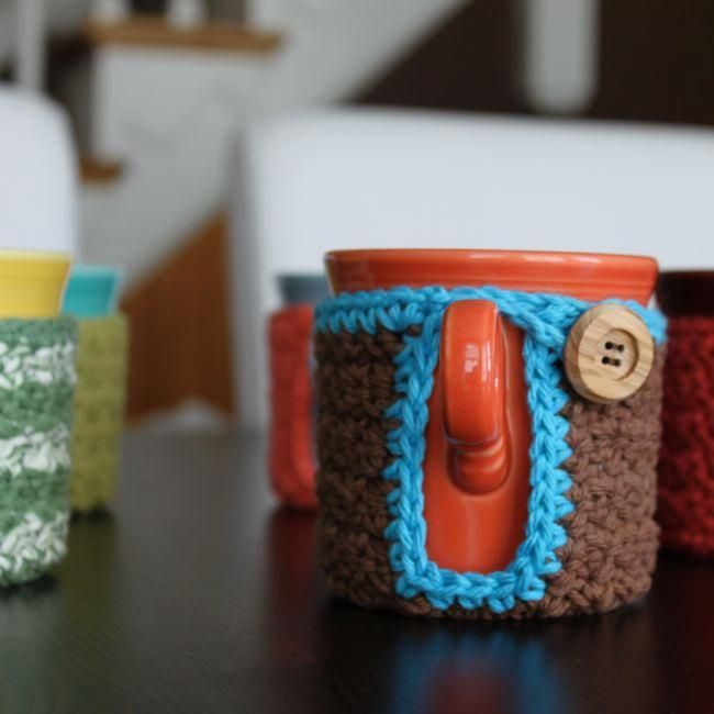 Mug Coaster Cozy via Craftsy | Crochet ❤ | Pinterest | Dibujo