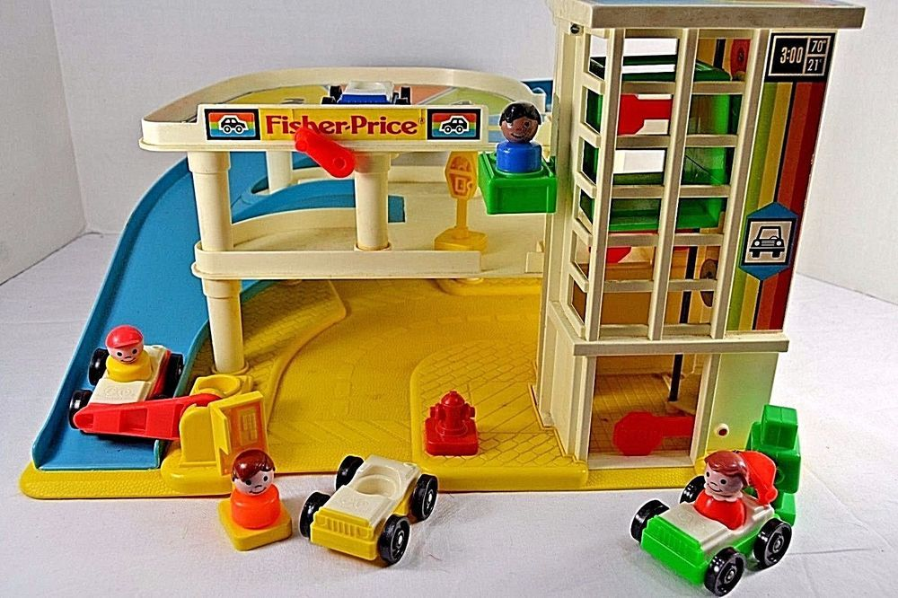 Garage Little People : Vintage fisher price little people garage complete w box