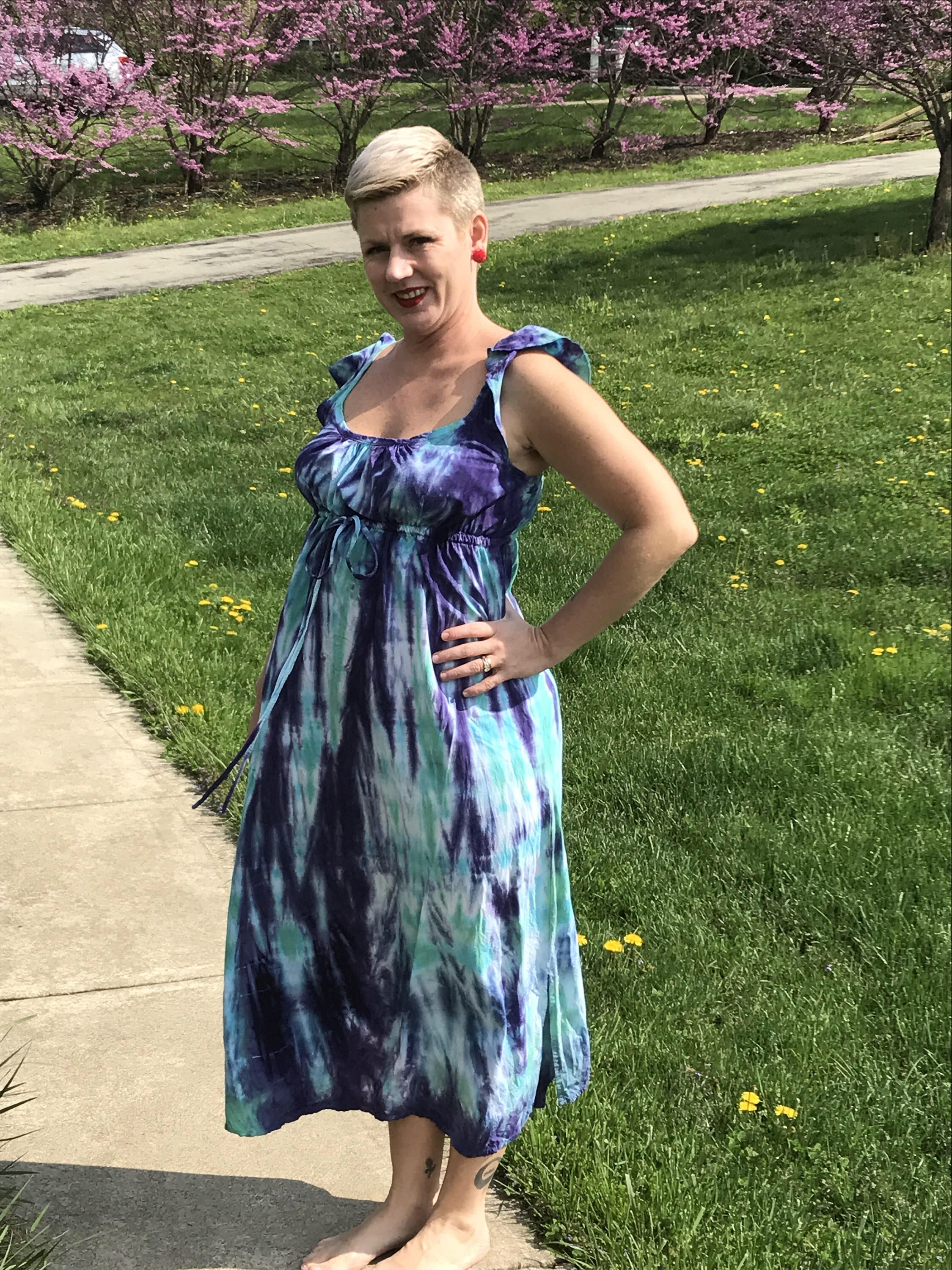 A personal favorite from my Etsy shop https://www.etsy.com/listing/526552063/size-large-rayon-sundress-in-purple-and
