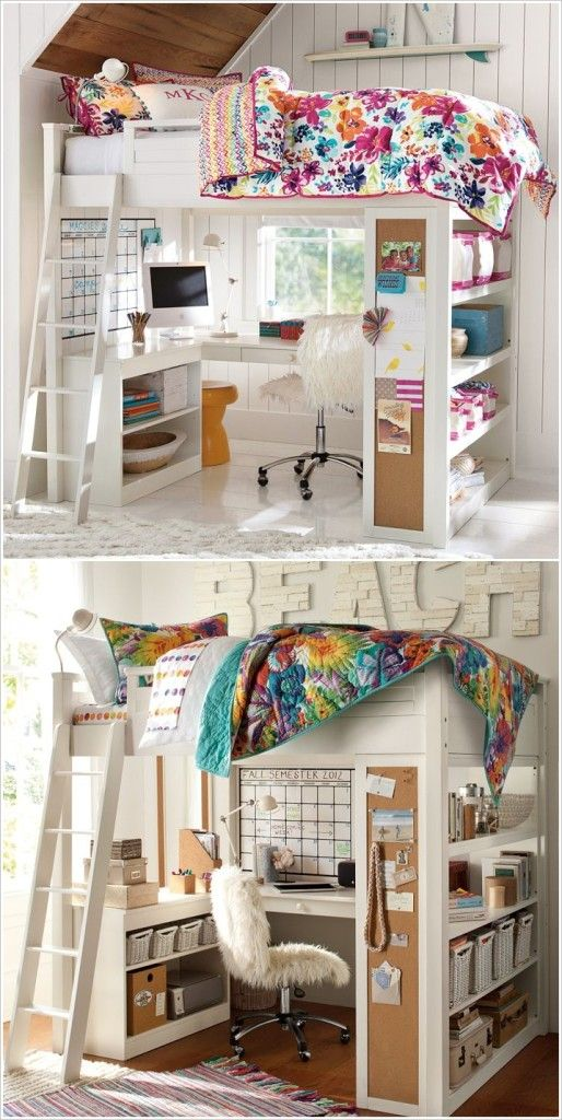 Love this room idea!! i want it in my room! Creative Small Space Storage Solutions That Will Make Your Life Easier
