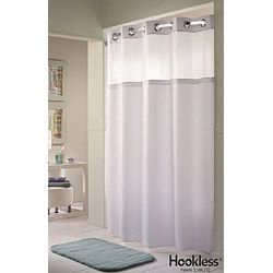 Hookless Double H Mystery Fabric Shower Curtain Hbh53dtb01crx