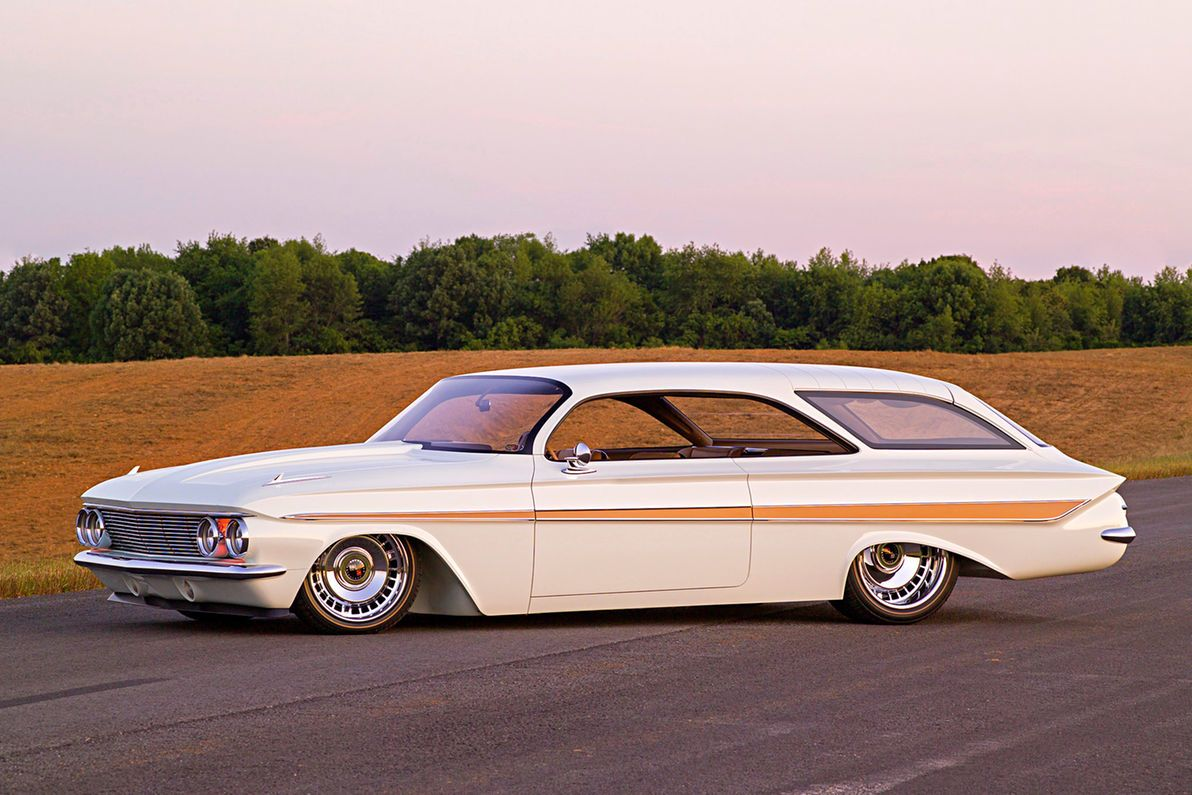 Detailed Photo Feature On A Custom 1961 Chevy Impala Wagon Show Car 1961 Impala Impala Chevrolet Impala