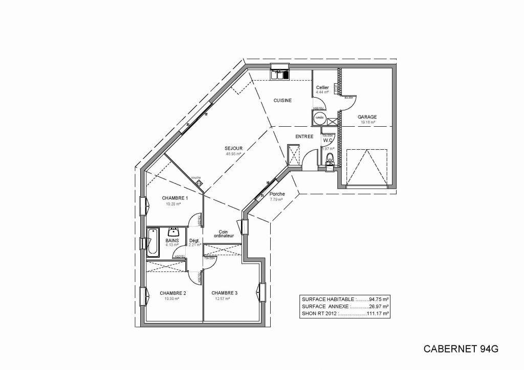 32 Plan Maison Plain Pied 80m2 3 Chambres Sans Garage Plan De La Maison Plan Maison En U Plan Maison Plain Pied Plan Maison