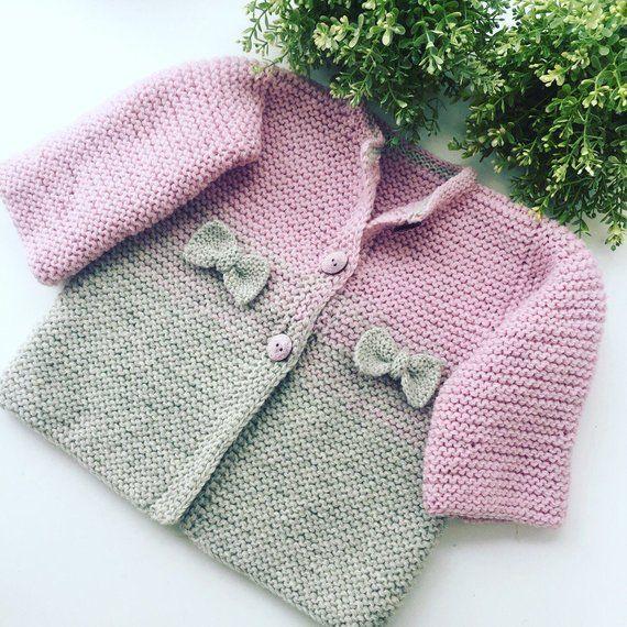 Produkty podobne do Hand Knitted Cardigan, Baby cardigan, Baby clothes, Baby, Baby shower, Baby gifts, Winter baby clothes, Knitted baby clothes, Baby knits w Etsy