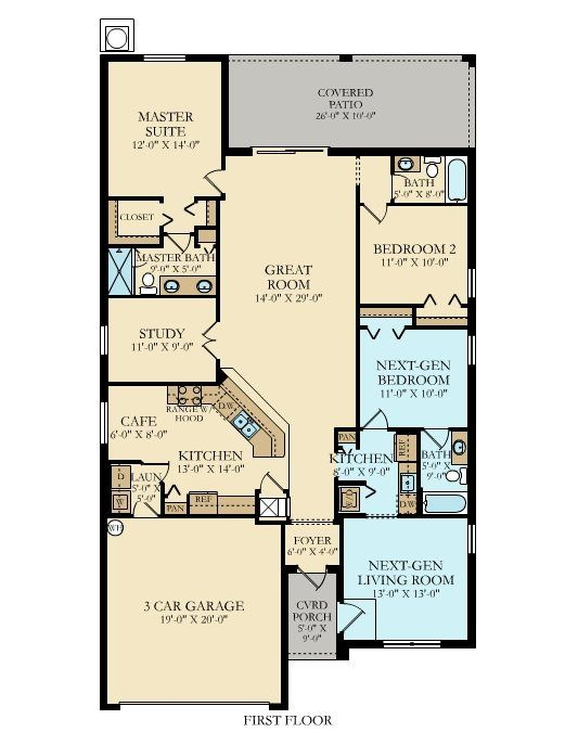 Single Story Lennar Homes Floor Plans