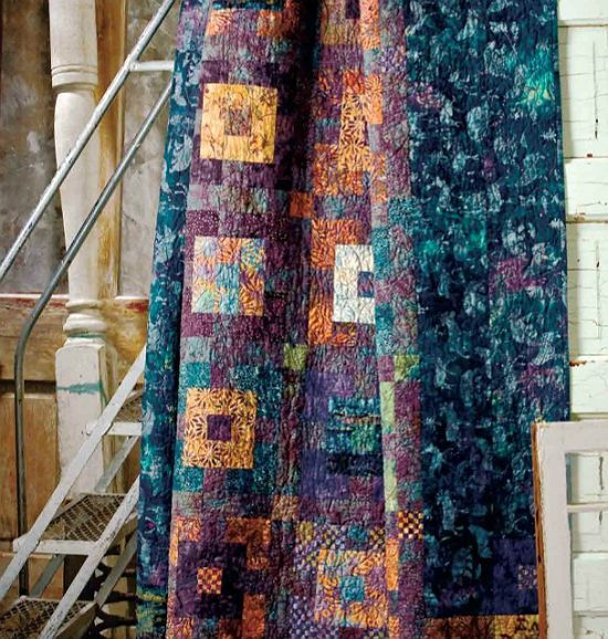 Batiks Are Perfect For This Easy Quilt