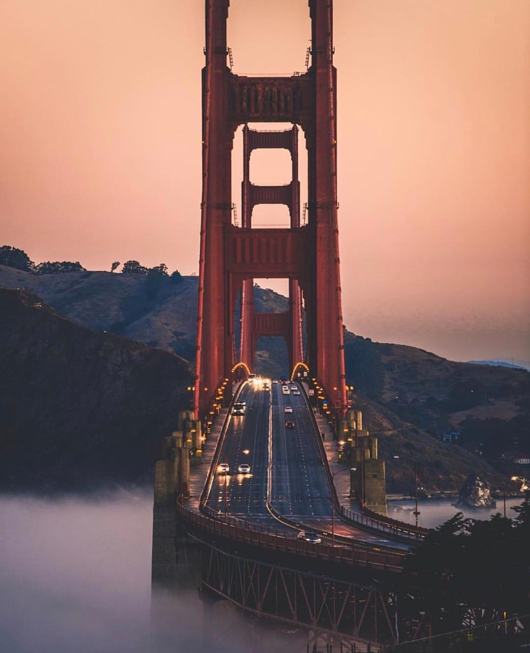 Early morning commute at Golden Gate Bridge by @daveolinger #sanfrancisco #sf