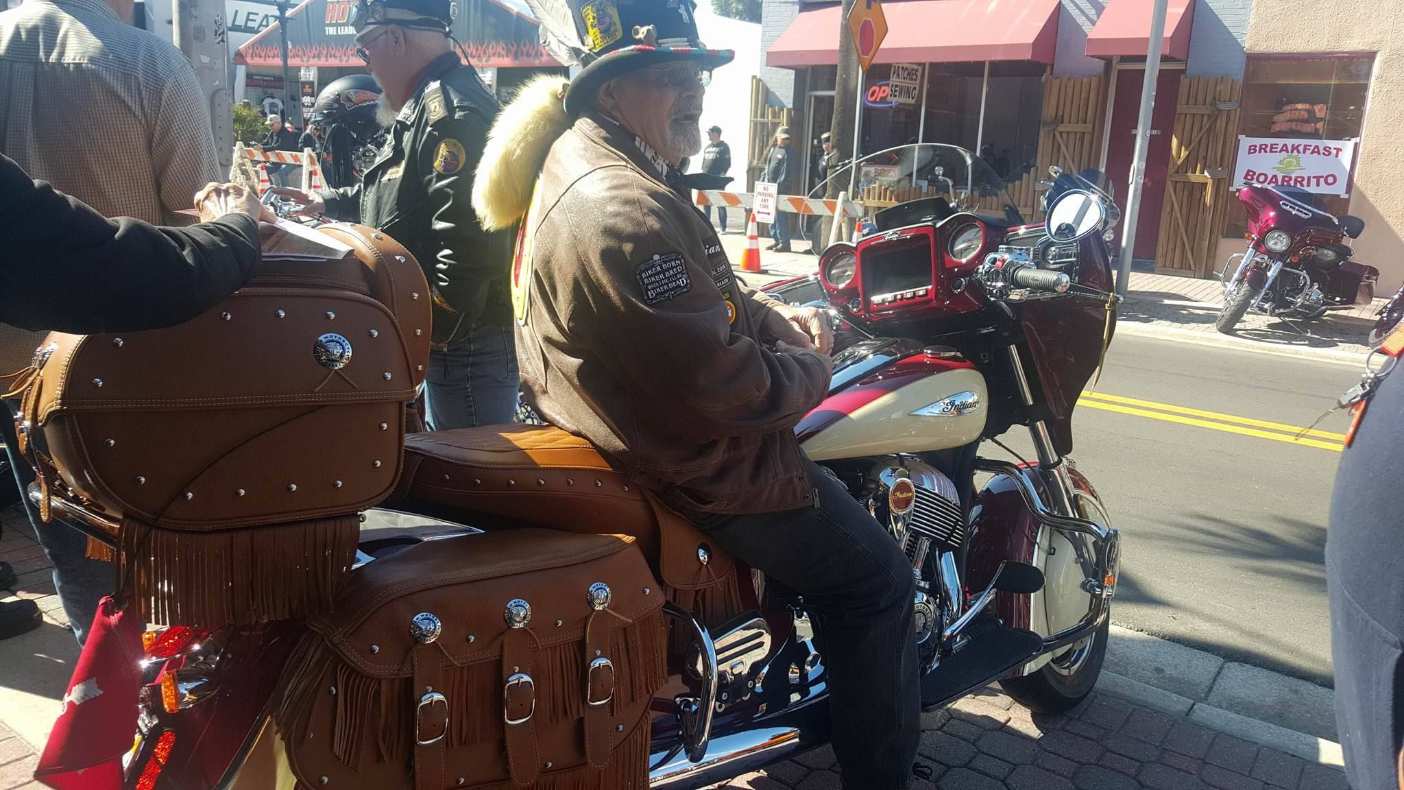 2017 Indian Motorcycle Chieftain Equipped With Tan Leather Bags