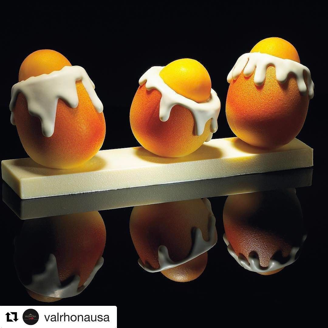 #Repost @valrhonausa with @repostapp  There are so many reasons why we Easter. One of them is to see how creative our customers are! Share with us your egg-cellent creations by using #ValrhonaUSA in your comment: we will be sharing some of our favorites! (Eggs by L' @Ecolevalrhona 's Pastry Chefs)