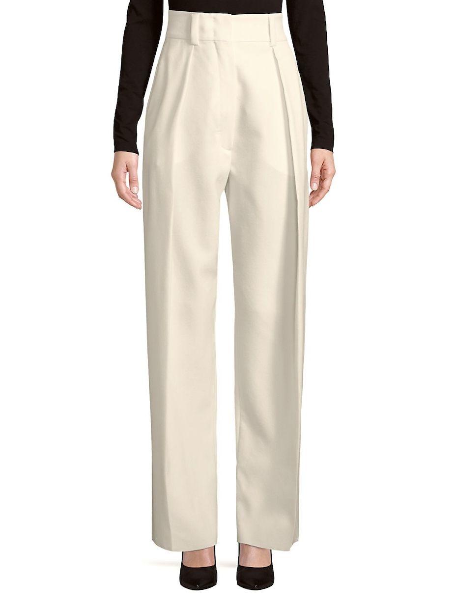 91f45b5ff85 Sportmax Pleated Wide-Leg Wool Pants