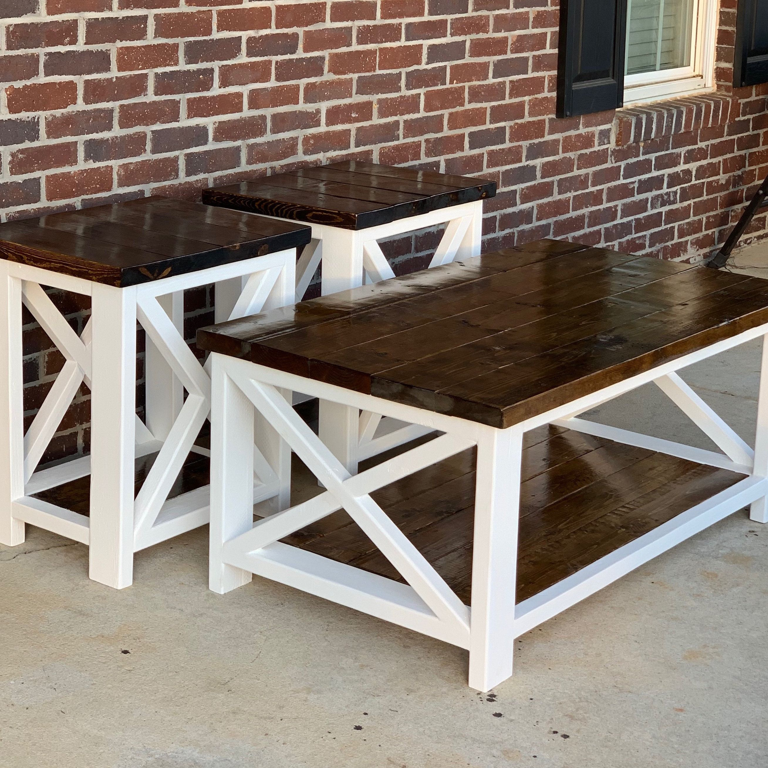 I'm offering a discount! Farmhouse coffee table sets