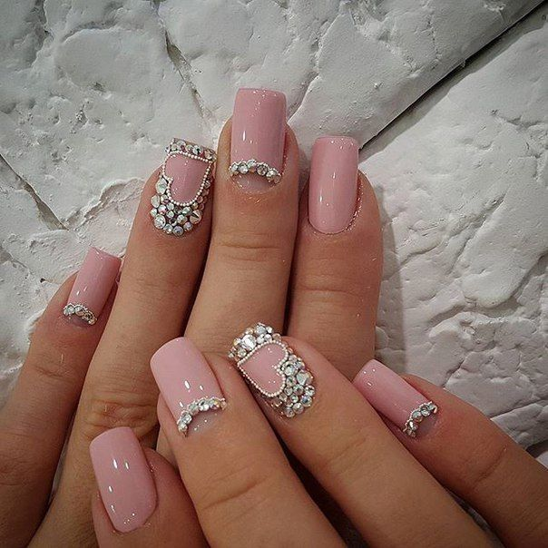 Manicure nail different lengths and shapes