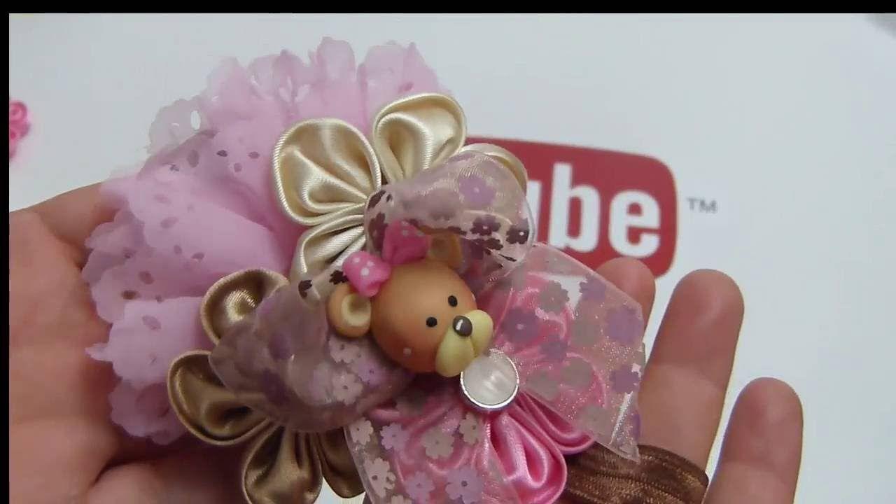 moos pequeos elegantes con flores de tela faciles tiaras con flores