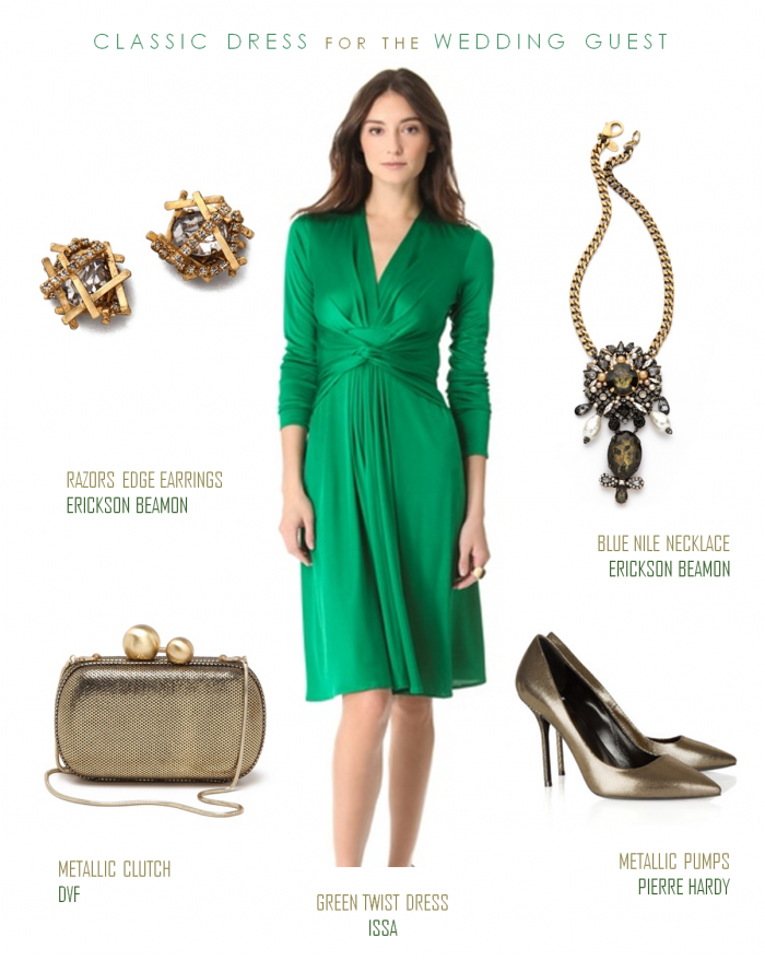 Emerald Green Dress With Sleeves