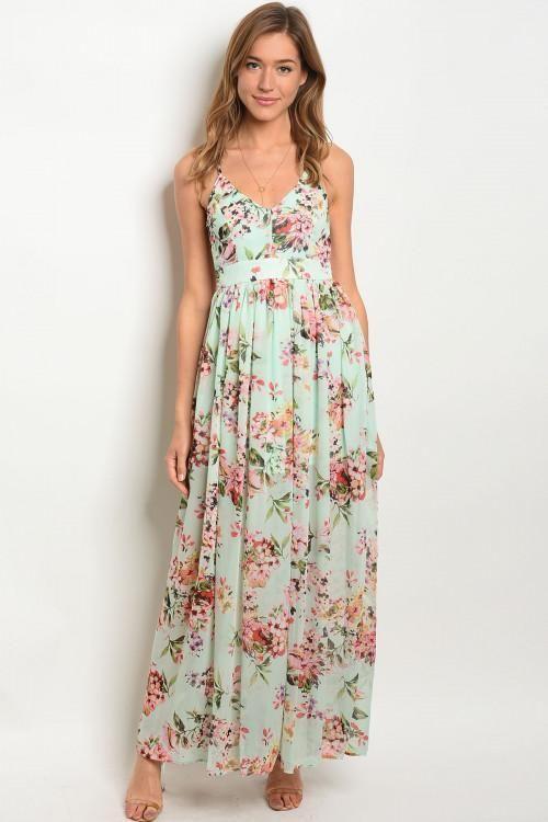 1486ec533c1e1 Minty Fresh Maxi Dress