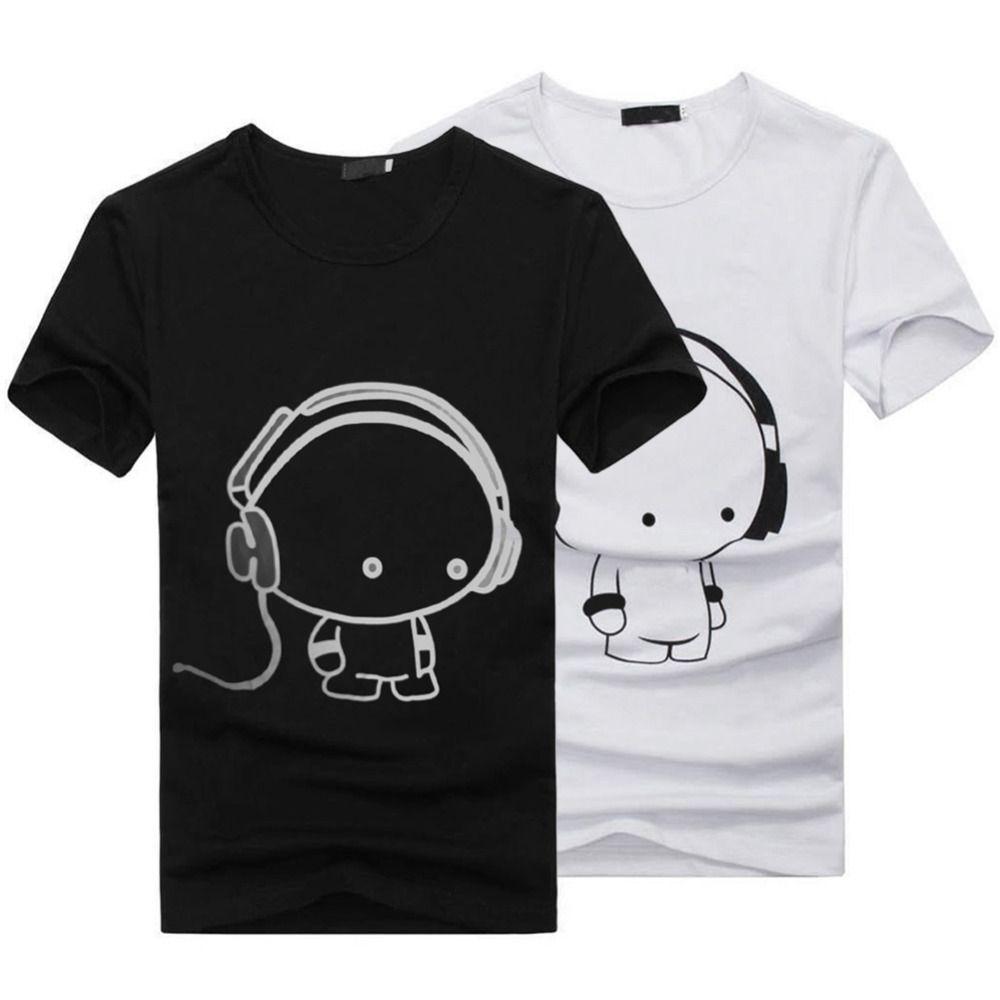 Charmant HOT 2017 New Summer Women Ladies Casual Cute Cartoon Print Funny T Shirt  Soft Cotton Couple