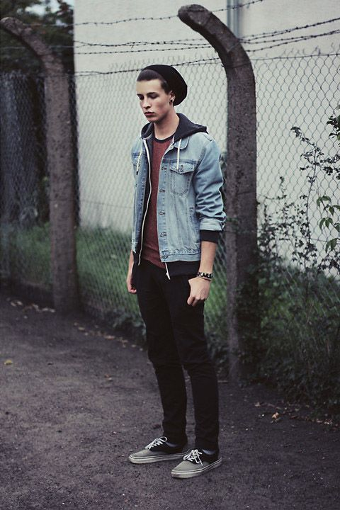 jean-jacket-hoodie-beanie-street-fashion-2.jpg 480×720 pixels | My ...