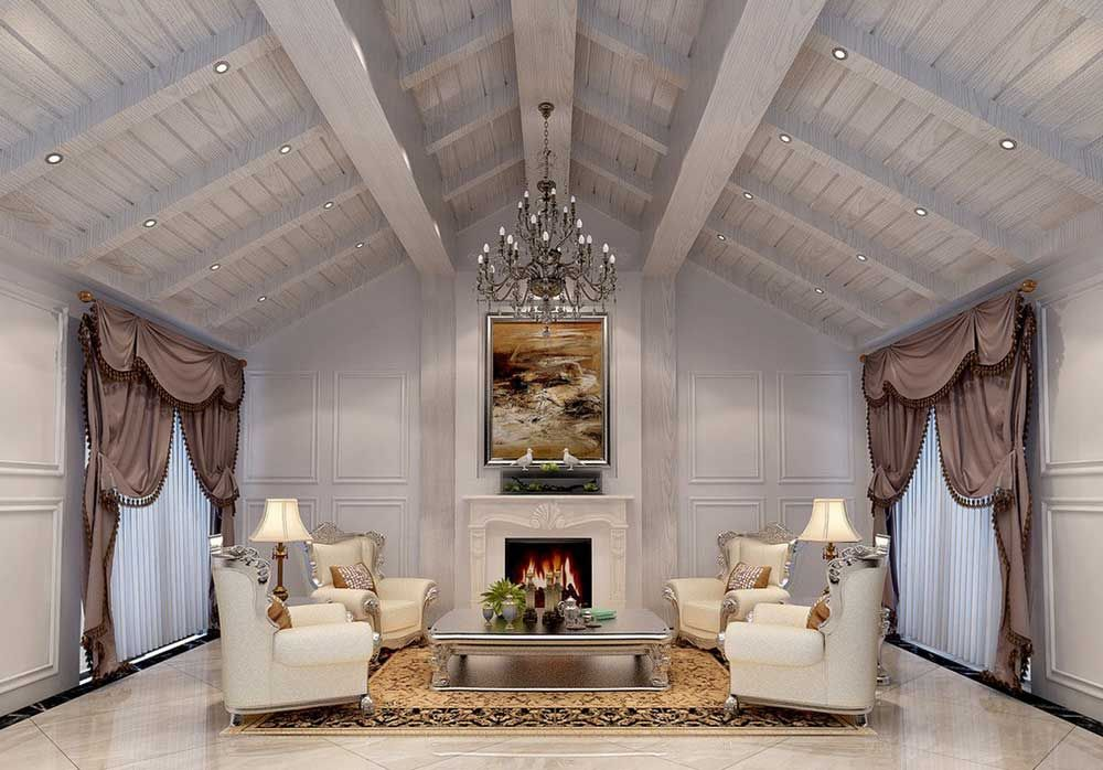Best Design Of Room Under Roof With Living Rendering