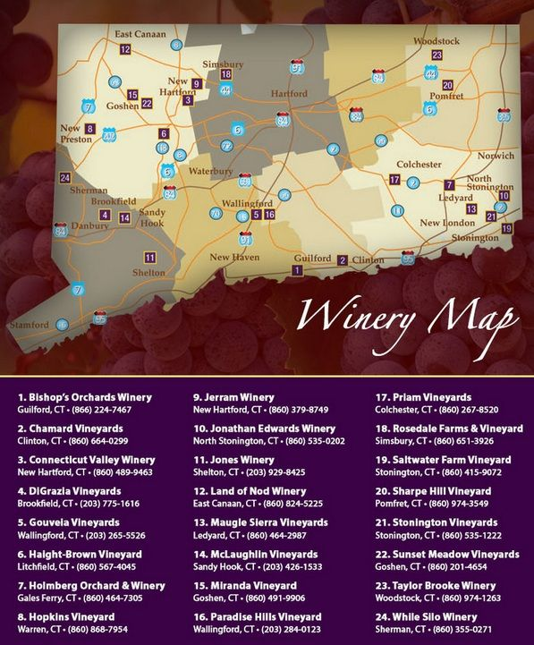 Connecticut Wine Region Map Check out the Connecticut Wine Trail