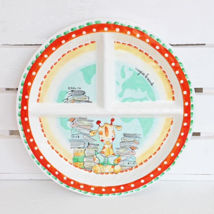 Baby Cie u0027Imagine the Worldu0027 Sectioned Toddler Plate - The Canopy  sc 1 st  Pinterest & Baby Cie u0027Imagine the Worldu0027 Sectioned Toddler Plate - The Canopy ...