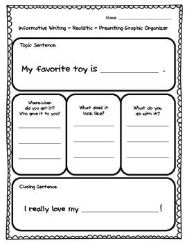 graphic organizer for helping students write a paragraph 1st