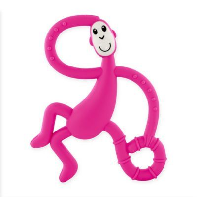 Matchstick Monkey Teething Toy and Gel Applicator Pink