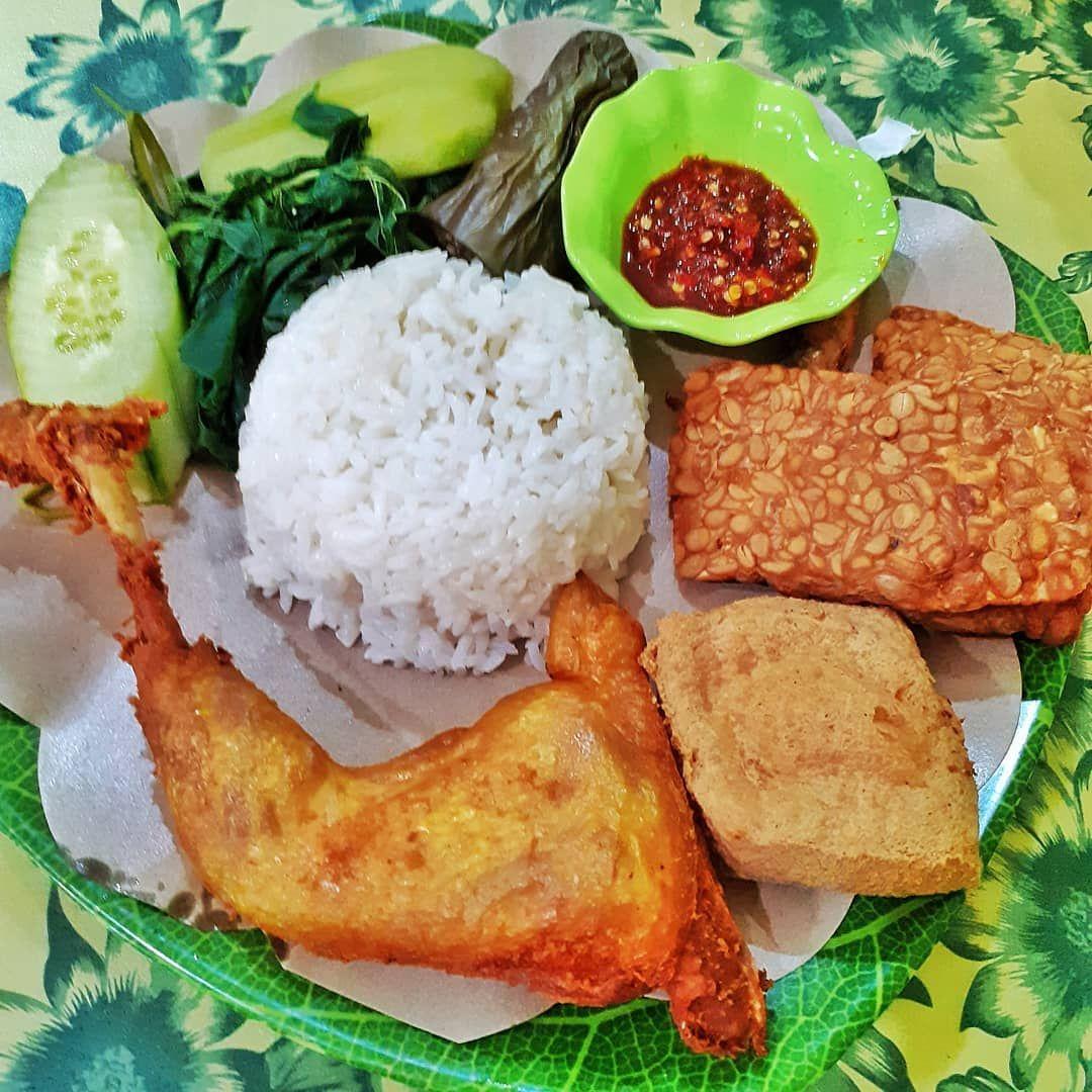 Nasi Tempong Ayam Goreng Food Food And Drink Street Food